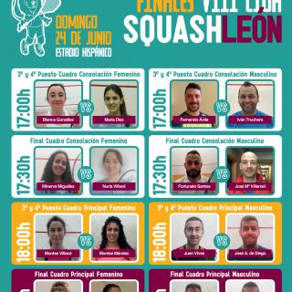 Finales VIII Liga Squash León 2017/2018 – Presentación