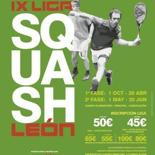 IX Liga Squash León 2018-2019 – Abierto el plazo de inscripción