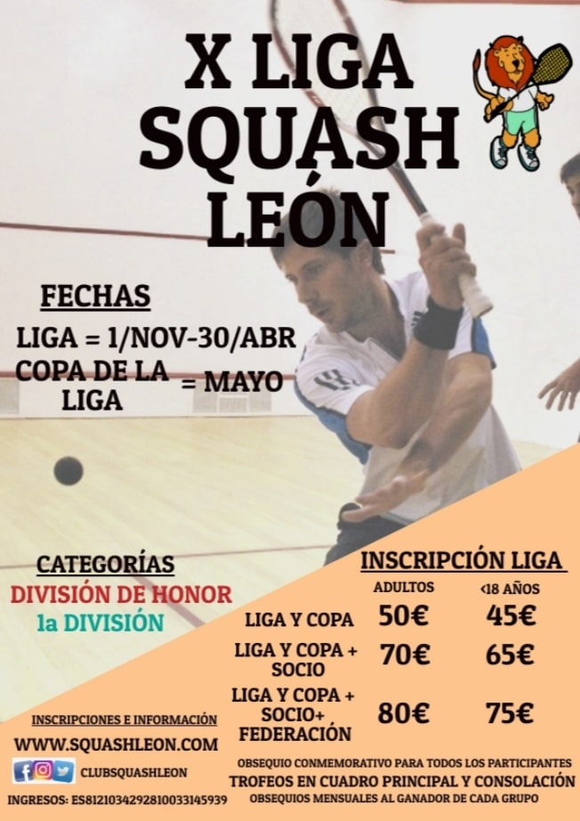 X Liga Squash León 2019-2020